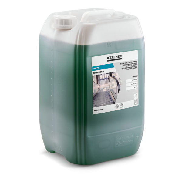 FloorPro detergente para fregadora para la limpieza de escaleras mecánicas, neutro RM 758 de 20 litros