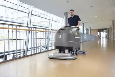 ventajas de la limpieza mecanica de karcher - LIMPIEZA DE SUELOS: LIMPIEZA Y DESINFECCIÓN MECÁNICA CON FREGADORAS DE SUELOS